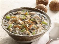 Slow-Cooked Chicken & Wild Rice Soup