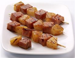 Barbecued SPAM Kabobs