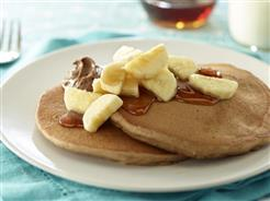 nutty banana pancakes