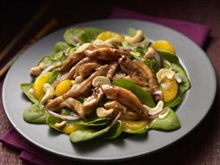 warm chicken and orange salad
