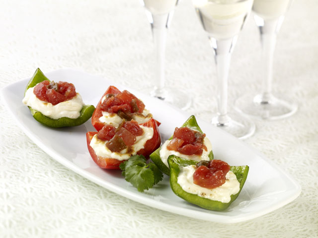 Stuffed Appetizer Peppers with Salsa